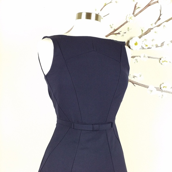 c09c6ce82dc6 H&M Dresses & Skirts - NEW H&M | Navy Structured Fit & Flare Career Dress